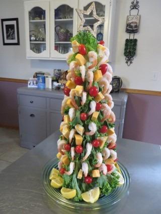 Shrimp christmas tree appetizer - Christmas tree shaped appetizers ...