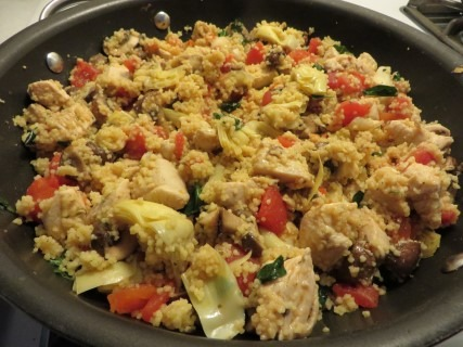 Chicken Basil Coucous With Artichokes Recipe