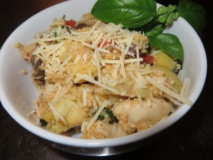 Chicken Basil Couscous With Artichokes Recipe