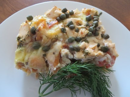 Smoked Salmon with Capers Breakfast Casserole 041 (Mobile)