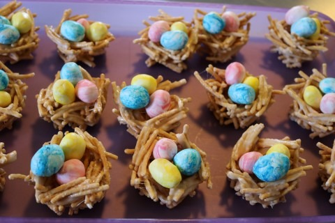 Candy Easter Egg Nests Recipe 116 (Mobile)
